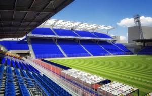 """New tribune at """"Chernomorets"""" stadium"""